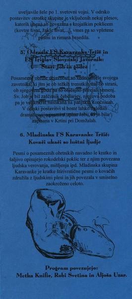 KD Folklorna skupina Karavanke 2004 Koncert En mojster kselu pravi vabilo 3d
