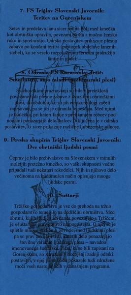 KD Folklorna skupina Karavanke 2004 Koncert En mojster kselu pravi vabilo 3e