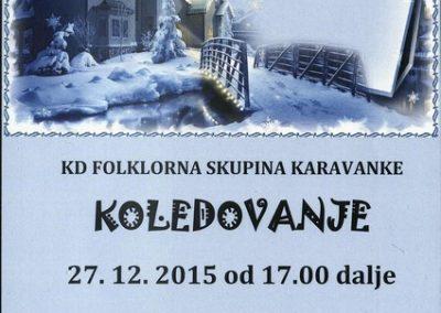 KD Folklorna skupina Karavanke 2015 Koledovanje vabilo 3