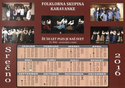 KD Folklorna skupina Karavanke 2016 Že 50 let ples je naš svet koledar 3