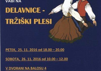 KD Folklorna skupina Karavanke 2016 Delavnice - tržiški plesi vabilo 3