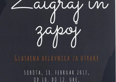 KD Folklorna skupina Karavanke 2017 Zaigraj in zapoj vabilo 3