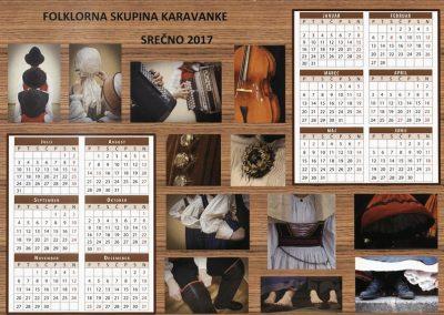 KD Folklorna skupina Karavanke 2017 koledar 3